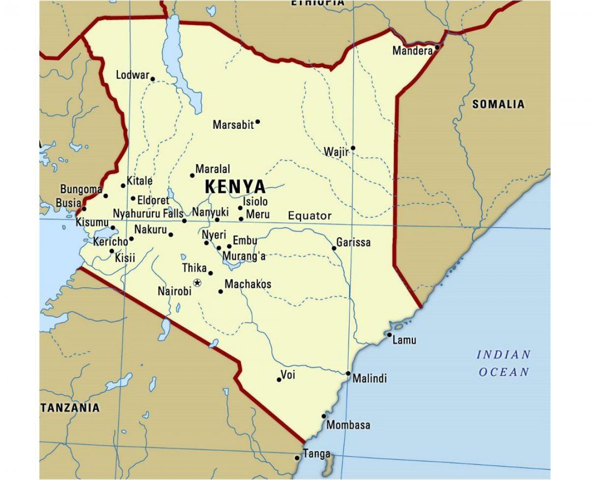 Map Of Africa With Equator.Kenya Equator Map Equator In Kenya Map Eastern Africa Africa