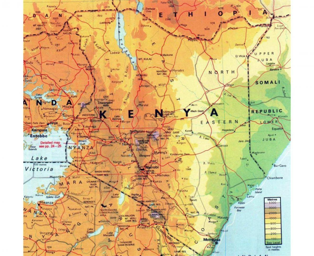 Kenya Geography Map Kenya Geographical Map Eastern Africa Africa