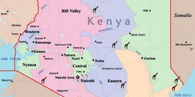 Kenya map - Maps Kenya (Eastern Africa - Africa)