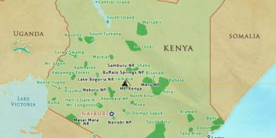 Map of Kenya national parks and reserves